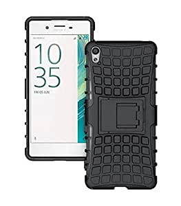 Fabzone Back Cover for Sony Xperia XA1 Back Cover Hybrid Kick Stand Case - Black