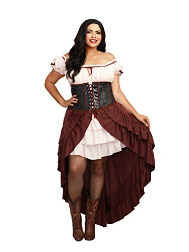 Saloon Girl Women's Plus Size Fancy Dress Costume 2X