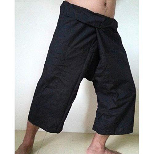 COOOOEENS New Wide Leg Mens schwarz Hosen Taschen Männer Frauen Wadenlangen Hosen Fisherman Hosen Größe S-5XL Leg Fisherman Pants