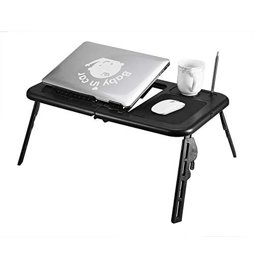 Einstellbare Klapptisch Laptop Tischständer Lap Tray Notebook Schreibtisch mit USB-Lüfter Ständer Tray -