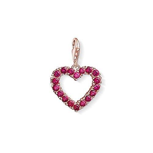 THOMAS SABO Damen-Charm-Anhänger Rotes Herz Charm Club 925 Sterling Silber 1575-540-16 -