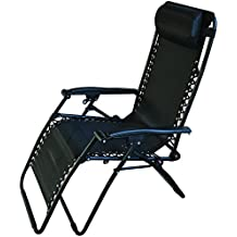 Redwood Leisure BB-FC114BL - Silla reclinable de textileno - negro (1 pieza)