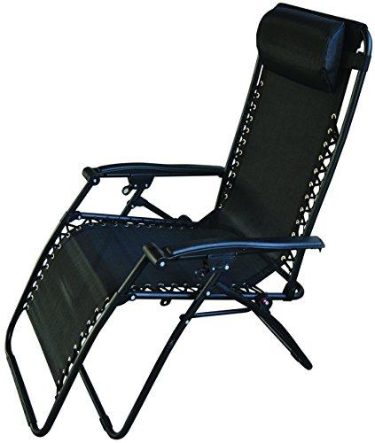 Redwood leisure bb-fc114bl sedia reclinabile, nero