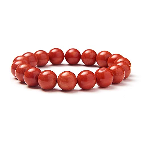 red coral perle stretch - armband armband glück schmuck 10mm über 7