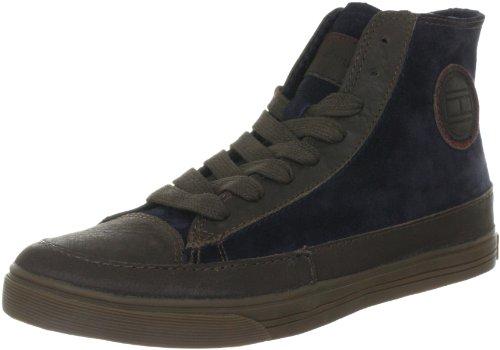 Tommy Hilfiger VINCENT 1 FM56814812 Herren Fashion Sneakers Blau (MIDNIGHT/DARK BROWN 403)