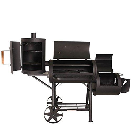TAINO PROFI XXL 90kg-110kg Smoker einzeln und als Set inkl. Zubehör BBQ GRILLWAGEN Holzkohle Grillkamin 3,5 mm Stahl PROFI-QUALITÄT (110 kg + Zubehör)