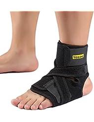 Tobillera ajustable estabilizadora de ligamentos soporte para el tendón movimiento