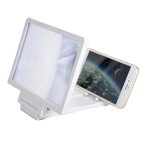 Mobilegear Universal Mobile Phone Screen Magnifier & 3D Enlarge Stand to Increase Screen Size upto 3X