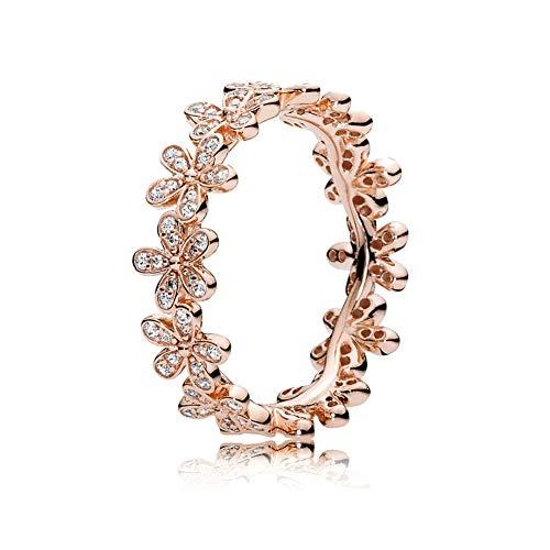 Ring, Roségold Überzogen Prinzessin Zirkonia Kristall Verlobungsringe Beste Versprechen Ringe für ihren Jahrestag Cocktail Pfeil Hochzeit Bands Sammlung Schmuck Ringe (50 (15.9)) ()