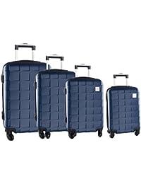 4 Maletas rígidas PIERRE CARDIN azul cabina para viajes 4 ruedas abs VS91