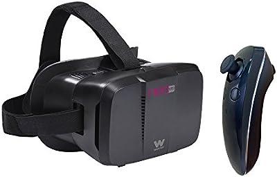 Woxter Neo VR1 - Kit gafas de realidad virtual 3D para smartphone con mando a distancia, color negro