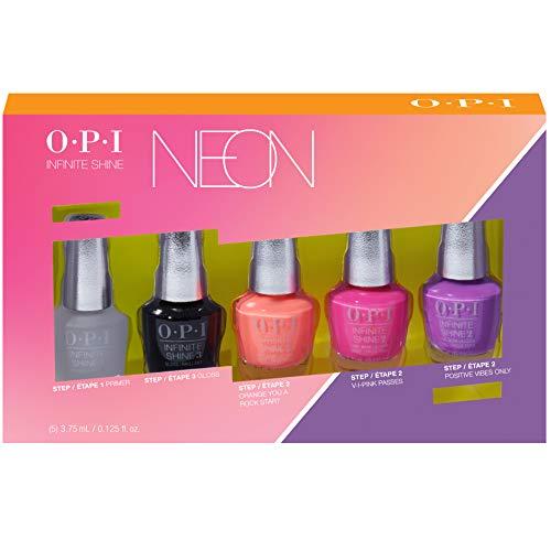 OPI Mini, Gel de Manicura y Pedicura Mini Kit de VFerano 19 de Neons 5 Piezas - 1 Unidad