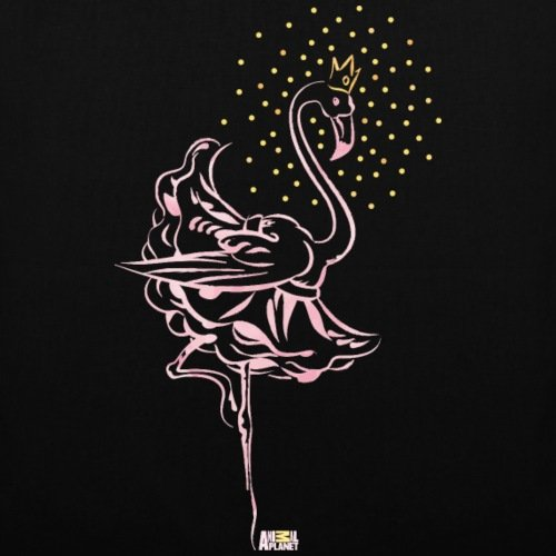 Spreadshirt Animal Planet Flamingo Ballerina Ballet Tessuto Nero