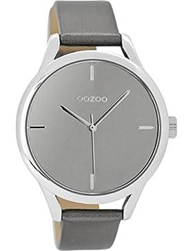 Oozoo Damenuhr mit Lederband 40 MM Silbergrau/Silbergrau C9143