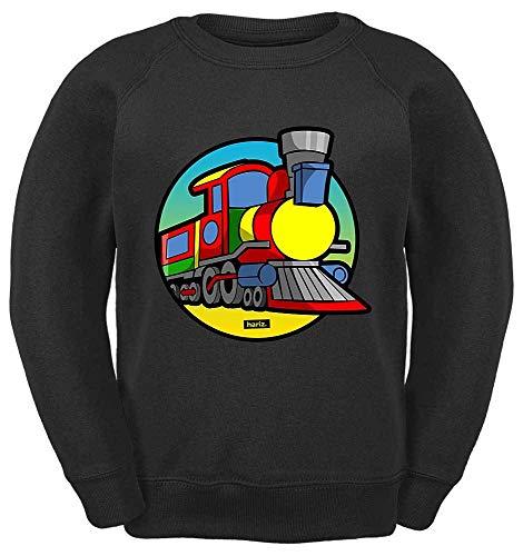 2 Humor Kleinkind T-shirt (HARIZ Kinder Sweater Eisenbahn TUT TUT Fahrzeuge Traktor Plus Geschenkkarte Schwarz 164/14-15 Jahre)