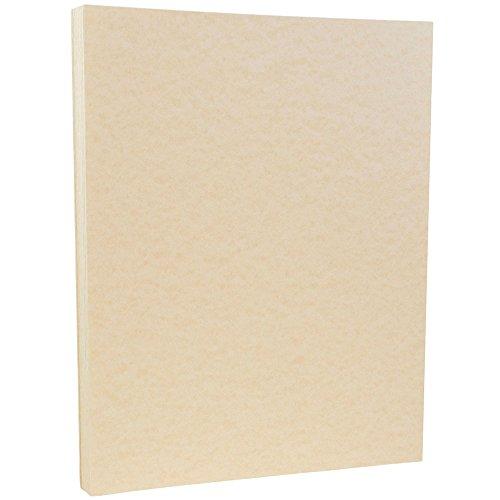 JAM PAPER Papel Pergamino - 215,9 x 279,4 mm - 90gsm - Natural Reciclado - 100 Hojas/Paquete
