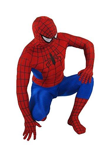 Ganzkörperanzug Spinnenmann für Damen M und Herren S Rot-Blau Kostüm Superhero Held Comic Superheld Overall