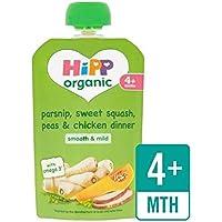 Hipp Organico Pastinaca, Dolce Sacchetto Da Squash E Cena Pollo 4+ Mths 100G - Confezione da 2