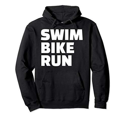 Schwimmen Fahrrad Triathlon Pullover Hoodie (Triathlon Hoodie)
