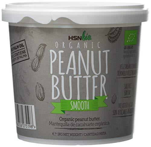 HSN Bio - Mantequilla Cacahuete Orgánica - 100{5c99a1732cf4005388a1127028eb2ec80d37f281c3aceab1b3e33daaa42a6e35} Bio- Organic Peanut Butter Smooth - Apto para Vegetarianos- Sin Aceite de Palma- Sin Grasas Trans, sin azúcar ni sal añadidos 1000gr