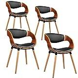 ESTEXO 1/2/4/6/8x Walnus Funier- Esszimmerstuhl Modell Henk, Esszimmerstühle, Holz, Stuhl, Stuhlgruppe, Küchenstühle (4 Stück)