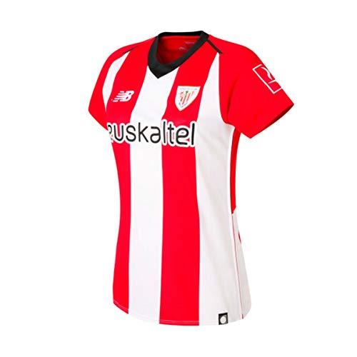 New Balance AC Bilbao Primera Equipación 2018-2019 Mujer, Camiseta, White-Red, Talla M