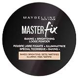 Maybelline Master Fix Baking Powder, loser Puder zum Fixieren und Mattieren von Make-up, Konturieren und Highlighten der Augenpartie für einen strahlenden und makellosen Teint, Dose, 6 g