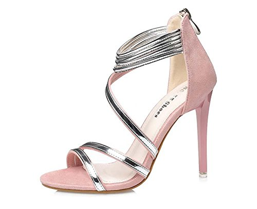 NobS Chaussures Talons Hauts Talons Ouverts Chaussures Chaussures En MéTal Chaussures GlissièRe Pink
