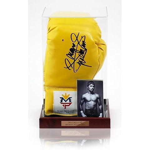 Manny oficial Juan mano guante de boxeo firmado