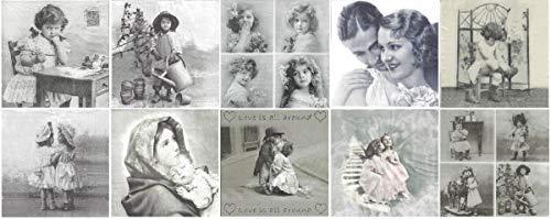 Zita\'s Creative Servietten Set mit Decoupage-Kleber - Sagen Vintage 1. Decoupage, Serviettentechnik,
