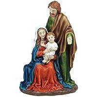 CAPRILO Figura Decorativa Religiosa de Resina Nacimiento Adornos y Esculturas. Belenes. Decoración Hogar.