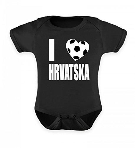 Hochwertiges Baby Body - I Love Hrvatska Fussball Trikot Herz Kroatien Geschenk