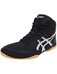 Asics timbre de lucha libre zapatos ASICS Matflex 5–J504N 9093–Negro/Plata, - black / silver, 43 1/2