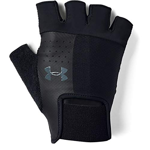 Under Armour Men's Training Glove Guantes, Hombre, Negro Black/Pitch Gray 001, L