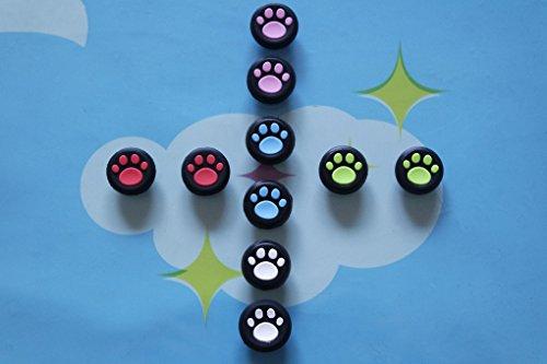 Stillshine pulgar agarre palo thumb grip silicona caps para PS2, PS3, PS4, Xbox 360, Xbox One, Wii U Mando (10PCS felino)