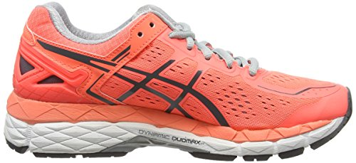 ASICS Gel-kayano 22 - Scarpe Running Donna Arancione (Flash Coral/Carbon/Silver Grey)