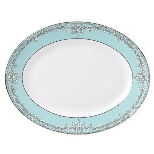 Lenox Marchesa Empire Pearl Oval Platter, Wine Lenox Pearl Platinum Bone China