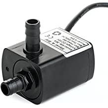 12v Dc Pequeña bomba de agua, 63 GPH Mini bomba sumergible para PC de refrigeración por agua, fuente de agua pequeña, caída de agua, acuario, ...