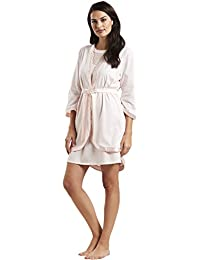 Feraud 3181315-11577 Women s Couture New Rose Pink Solid Colour Dressing  Gown Loungewear Bath Robe 1bc988d0f