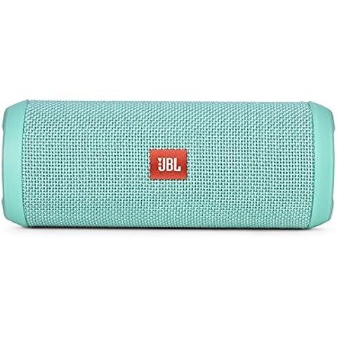 JBL Flip 3 - Altavoz portátil (Bluetooth, Micro USB, 3000 mAh) color turquesa