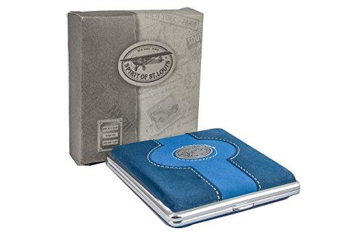 ReNa-Retail Elegantes und hochwertiges ZIGARETTENETUI (Blau)