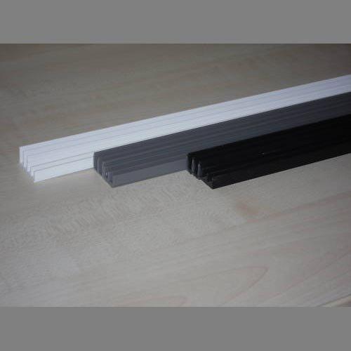 Glasführungsprofil silber 4 mm - 200 cm unten