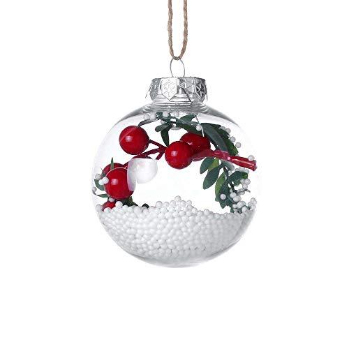 DOLLAYOU Christbaumkugeln Kunststoff Deko Klein Weihnachten Dekoration Kugeln Christbaum Geschenke Christbaumschmuck Anhänger Christmas 8cm