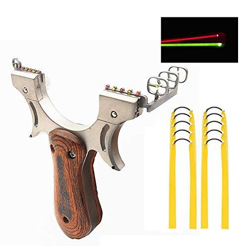 3Z Archery Hochgeschwindigkeits-Katapult-Jagdschleuder mit 10-teiligen Gummibändern Leistungsstarkes Festes Genaues Schießen Fischen Fowling-Wettbewerbsschleuder mit Zielpunkten