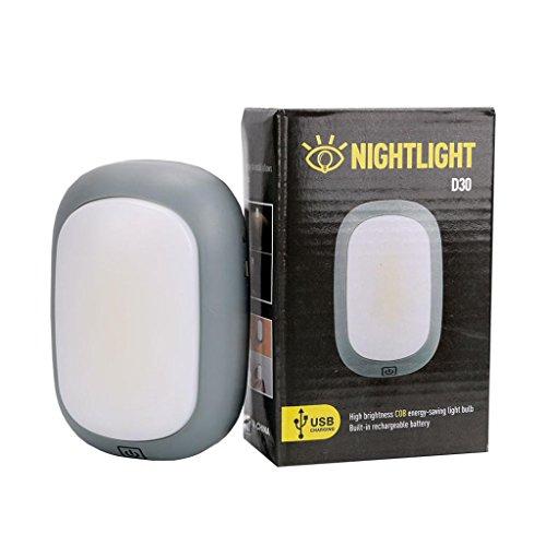 masrin USB COB LED Magnet-Arbeitsleuchte Auto Garage Mechaniker Home Wiederaufladbare Taschenlampe Lampe grau