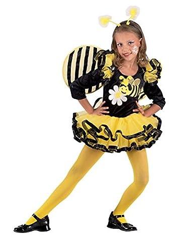 Premium Bienchen-Kostüm für Mädchen mit Haarreif und Flügel   Hochwertiges Karnevals-Kostüm / Faschings-Kostüm / Bienen-Kostüm   Perfekte Flotte Biene Verkleidung für Karneval, Fasching, Fastnacht (Größe: (Karnevals-kostüm-ideen Für Mädchen)