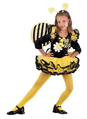 Premium Bienchen-Kostüm für Mädchen mit Haarreif und Flügel | Hochwertiges Karnevals-Kostüm / Faschings-Kostüm / Bienen-Kostüm | Perfekte Flotte Biene Verkleidung für Karneval, Fasching, Fastnacht (Größe: - Zu Kostüm-ideen Halloween Mädchen 2017