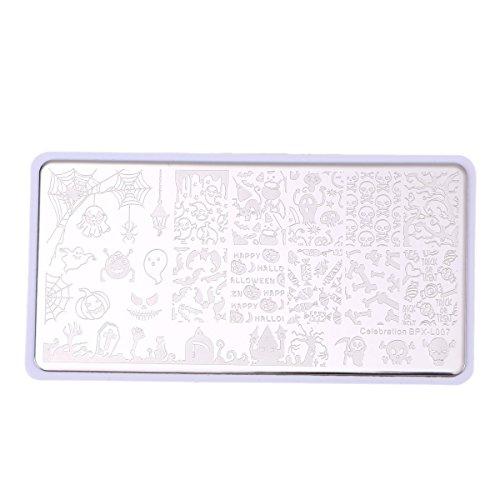 Frcolor Nagel Stamping Platten DIY Nail Art Schablonen Vorlage Maniküre Werkzeuge
