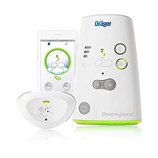 Dräger Dreamguard® smarter Baby-Bewegungssensor mit integriertem Babyphone | Baby-Monitor mit App-Nutzung auf dem Smartphone | Für zuhause & unterwegs