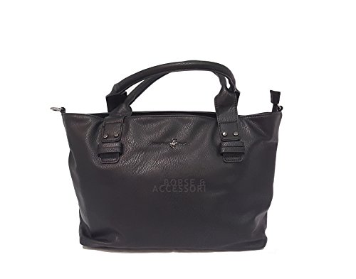 Borsa donna Beverly Hills POLO Club due manici colore nero BH702